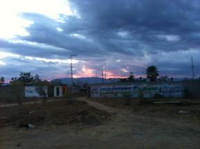 Coucher de soleil sur le quartier de La Colonia Vicente Guerrero