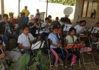 Les élèves de la fanfare en première année